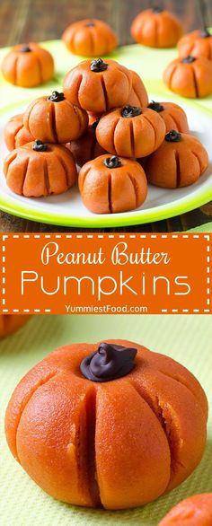 EASY PEANUT BUTTER PUMPKINS NO-BAKE - This simple and easy Peanut Butter Pumpkins are fun Halloween party snack or even Thanksgiving, that are perfect for any party and kids and whole family will love halloween baking recipes Halloween Party Snacks, Halloween Desserts, Snacks Für Party, Fruit Snacks, Halloween Foods, Party Desserts, Halloween 2020, Cute Halloween Treats, Snacks Kids