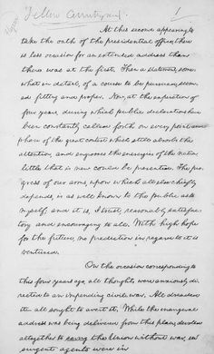 abraham lincolns second inaugural address 3 essay A spotlight on a primary source by abraham lincoln view this item in the collection just 701 words long, lincoln's second inaugural address took only six or seven minutes to deliver, yet contains many of the most memorable phrases in american political oratory.