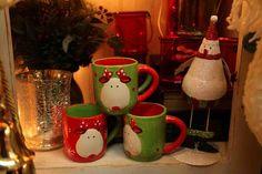green & red reindeer coffee mugs  Evergreen Home Decor  Lake of the Ozarks