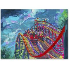 Trademark Fine Art Racing Coasters Canvas Art by Lowell S.V. Devin, Size: 14 x 19, Multicolor