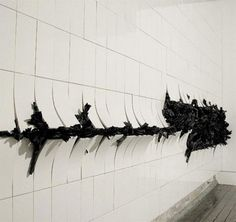 William Lungas Arca-Type (2009) Ceramic tiles, black stained porcelain