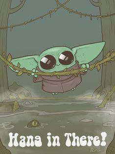 11 x 17 Imprimer Baby Yoda Hang in There Cute Characters, Fictional Characters, Young Baby, Baby Groot, Happy Baby, Baby Prints, Mandalorian, Art Pictures, Geek Stuff