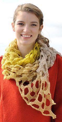 Holey Scarf Free Knitting Pattern