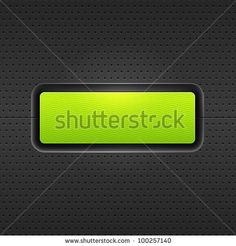 Look more my images http://www.shutterstock.com/gallery-498844.html — Green blank internet web button. Satin rounded rectangle form with shadow and glow on black metal background perforation seamless pattern. Vector 10 eps — #Royalty #free #stock #photo #illustration for $0.28 per download http://submit.shutterstock.com/?ref=498844