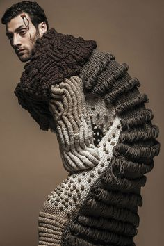 interesting knit...anyone know whose work this is?