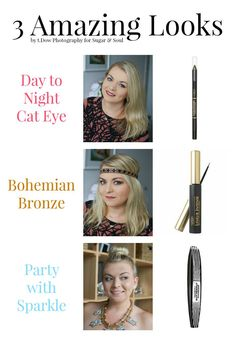 This amazing tutorial for How to Create a Day to Night Cat Eye makes getting that glam look simple! Plus two other great looks that are sure to WOW! #LorealBeauty ad