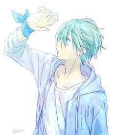 Anime Boy Smile, Hot Anime Boy, Cute Anime Guys, Karma Y Nagisa, Nagisa Shiota, Blue Anime, Boy Art, Manga Drawing, Pretty Art