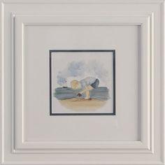 Boy by the Seashore White Mat Framed Print @PoshTots