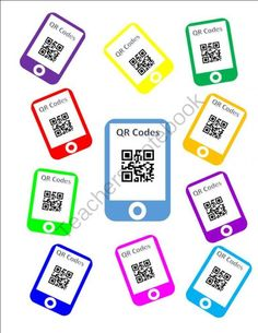 Technology Theme ... Black and neon .... FREE QR Code Template from Teaching With Heart In Texas on TeachersNotebook.com -  (10 pages)  - FREE QR Code Template