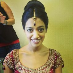 #WHOBride Viraj getting ready for a full day of ceremonies! #weddinghairofohio #updo #bridalmakeup