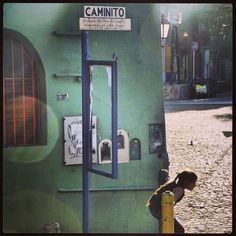 DAY 18 - A little girl playing in Calle Caminito, Barrio La Boca, Buenos Aires, Argentina