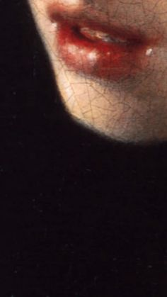Girl with a Pearl Earring (detail), Vermeer *** Bellissimo particolare. Potere della pittura.