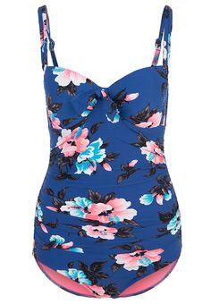 Bañador  de mujer color azul marino de Seafolly Seafolly VINTAGE VACATION SOFT CUP HALTER MAILLOT Bañador french blue Ofertas en Zalando.es | Material exterior: 87% nylon, 13% elastano | Ofertas ¡Haz tu pedido en Zalando.es y disfruta de gastos de enví-o gratuitos! #bañador #swimsuit #monokini #maillot #onepiece #bathingsuit