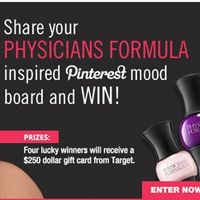 Multi-Color Manicure mania! Share your physicians formula inspired pinterest mood board and win $250 gift card from Target. Four lucky winner will get this gift card.