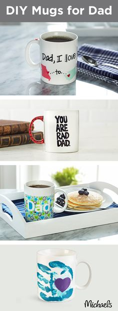 Make a DIY mug for Dad this Father's Day! These projects are perfect for children of all ages. Nothing says love like a handmade gift. Find everything you need for this project at your local Michaels store and make this Father's Day gift one to remember.