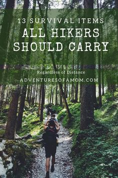 You should always be prepared for the worst during your hikes. Here is a list of survival items all hikers should carry regardless of distance. #survival #survivalgear #hiking #backpacking #trail #safety #gear #outdoor #nature