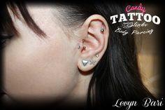 ear piercing ideas sexy girl tattoo constanta Candy Tattoo Constanta