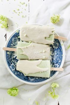 matcha green tea white chocolate creamsicles