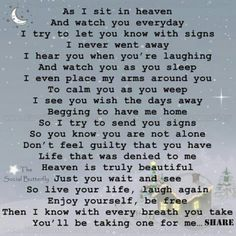 Letter from Heaven from a loved one