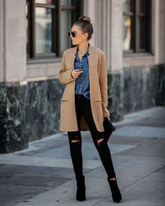Love the coat Winter Fashion Outfits, Fall Winter Outfits, Autumn Fashion, Winter Fashion Women, Winter Layering Outfits, Winter Style, Spring Outfits, Fashion Ideas, Outfits Otoño