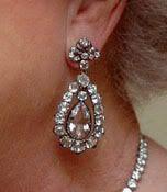 Diamond Drop Earrings from Great Britain, often worn by HM Queen Elizabeth II