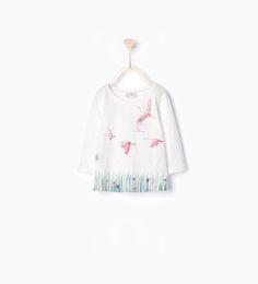 ZARA - ENFANTS - T-shirt à imprimé brillant