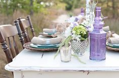 Mint and Lavender Sea Glass Inspired Beach Wedding Inspiration Shoot, Style by Design, Sarah Street Photography