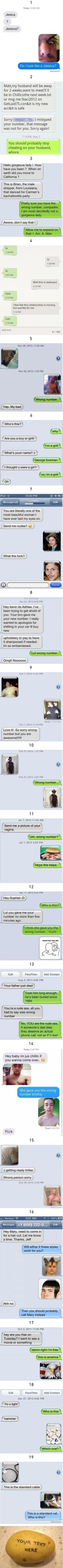 19 Funniest Wrong Number Texts 13 has a point Lol, Haha Funny, Funny Stuff, Funny Drunk, Random Stuff, Top Funny, Funny Shit, Super Funny, Really Funny