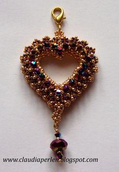 Beaded Jewelry Designs, Bead Jewellery, Handmade Jewelry, Beaded Earrings, Beaded Bracelets, Swarovski, Embroidery Jewelry, Beads And Wire, Necklace Tutorial