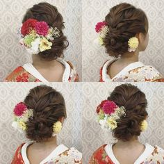 Pin by Need cakes on kiểu tóc đẹp in 2019 Formal Hairstyles, Wedding Hairstyles, Hair Arrange, Japanese Outfits, Yukata, Japanese Culture, Hair Pieces, Hair Inspiration, Wedding Ceremony