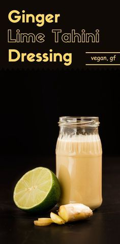 This ginger lime tahini dressing is a simple Asian style salad dressing that you can create in your kitchen.  Not only is it good on vegetable salads, but it can also be used as a sauce for tofu dishes, etc.  via /lightorangebean/