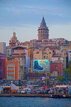 Istanbul Turkey Skyline Overlooking Bosphorus