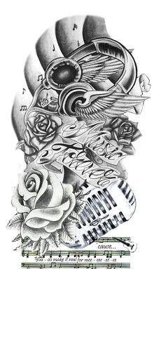 Music forever tattoo design