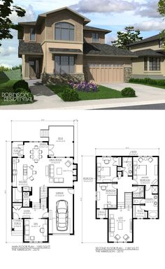 49 Trendy Home Design Plans Full Bath Sims House Plans, Dream House Plans, Modern House Plans, Small House Plans, House Floor Plans, My Dream Home, Sims Building, Building A House, The Plan