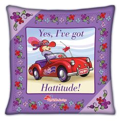 Red Hat Society Pillows - The Danbury Mint