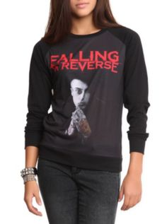 Falling In Reverse Tattoo Hand Girls Pullover