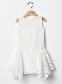 Eyelet layer dress