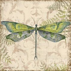 Dragonfly Daydreams-C Painting / Jean Plout