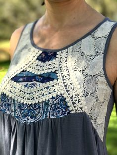 Stitch Fix Moon and Sky Valri Crochet Detail Knit Top - part of my March Fix!