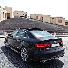 """The stylish and aggressive S3 Sedan, striking a pose in the lovely Katara village. Car: 2016 @Audi S3 Sedan S-Tronic (300hp, 2.0 turbo) Performance:…"""