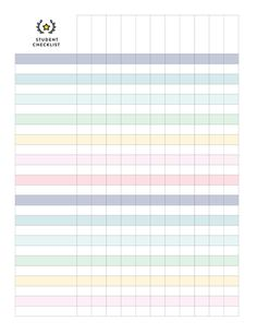 Student Checklist Pages - 2019 Calendar from Emily ley. Whether you want perpetual calendars, address books or simplified planner daily pages, Emily Ley has LOADS> Prep & organize daily meals and shopping list. Daily Planner Pages, Daily Planner Printable, Study Planner, Calendar Printable, Checklist Template, Planner Template, Schedule Templates, Agenda Stickers, Templates Printable Free