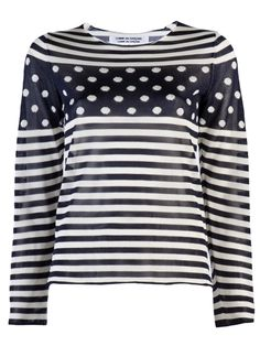 SS'12 Comme Des Garcons stripe and dot sweater. www.grethenhouse.com