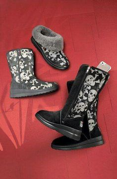 Finally some skull footwear that's cute but also comfy