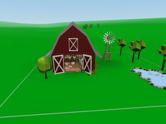 There is a party going on in the barn – having fun with the CoSpaces farm animals.