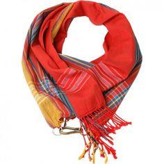 """Der Baumwoll-Schal """"Kikoi"""" mit Streifen ist der idealer Begleiter für dein Tages- und Wohlfühl-Outfit. Das Label Glück & Selig steht für Leidenschaft, Kultur und außergewöhnliche Kreationen. Versandkostenfrei bei melovely.de"""