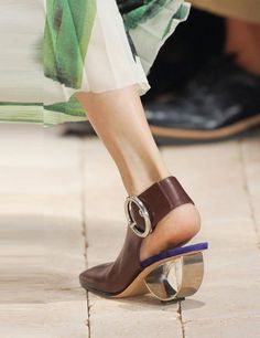 TREND - award for most architectural heels to Celine Fashion Week SS14: Shoes | ELLE UK