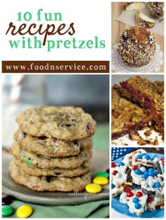 10 Fun Pretzel Recipes that you will want to try over and over again! #recipes #pretzels #toprecipes