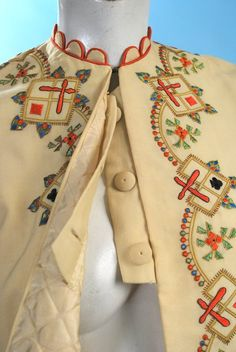 1860 RARE Wonderful Ladies Polychrome Embroid Zouave Jacket Harlequins | eBay