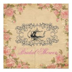 vintage Floral Bridal Shower Tea Party Invitation This DealsReview from Associated Store with this Deal...