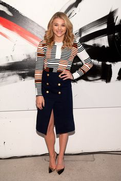 Chloë Grace Moretz in Kenzo at The Equalizer's AOL Build speaker series.
